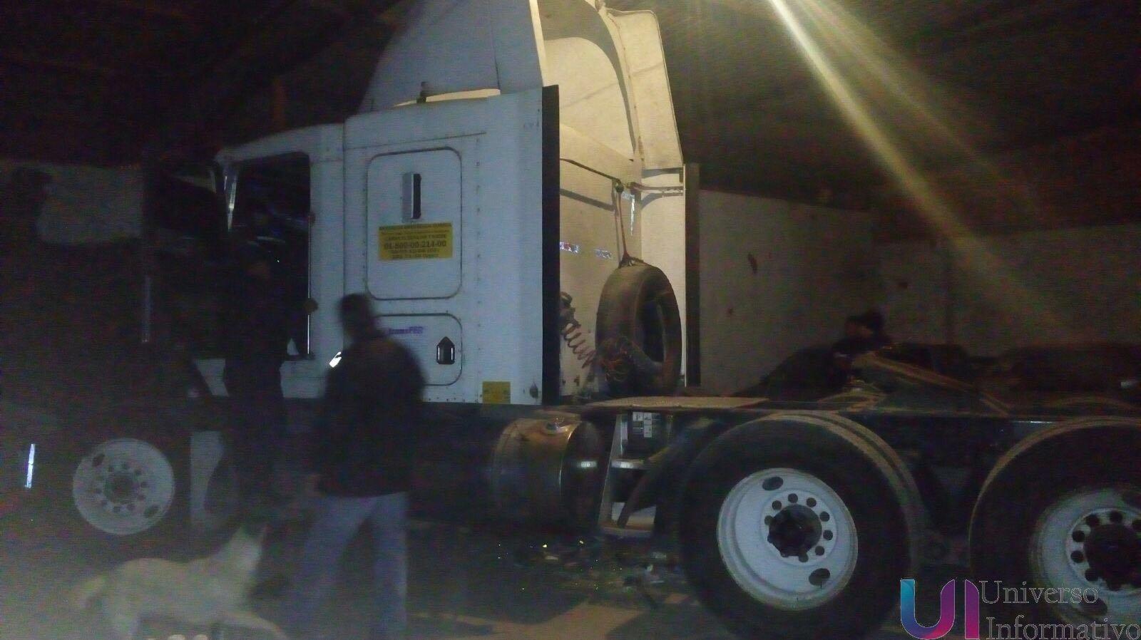 Recuperan PGJE tracto camión y asegura inmueble utilizado para cometer conductas delictuosas