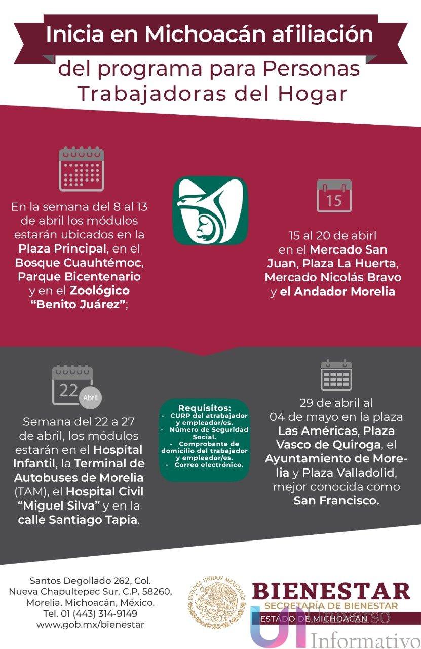 Inicia En Michoacán Afiliación Del Programa Para Personas