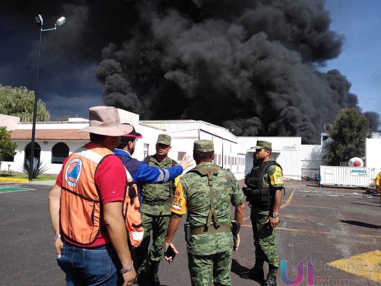 Atiende PC Estatal incendio en Ciudad Industrial; aplican protocolo preventivo
