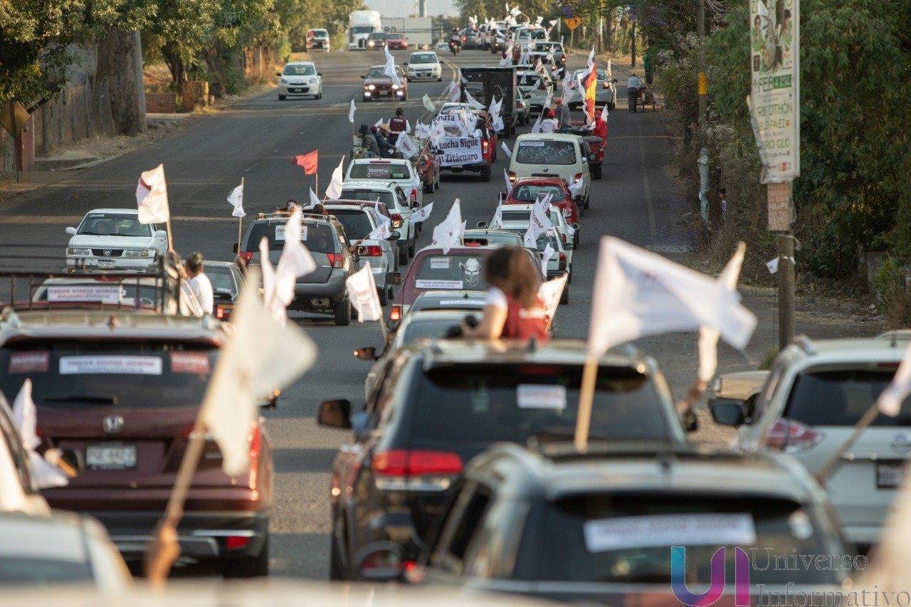 Zitácuaro arropa a Raúl Morón en Caravana en Defensa de la Esperanza
